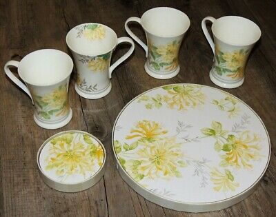 Set Of 4 Laura Ashley Home Honeysuckle Pattern Mugs Coasters Placemats • 49.95£