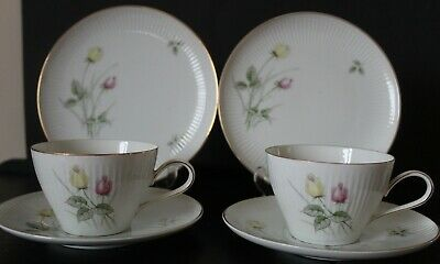 Vintage Thomas / Rosenthal Bavaria ~ Rose Design ~ German ~ 2 Trios  • 9.99£