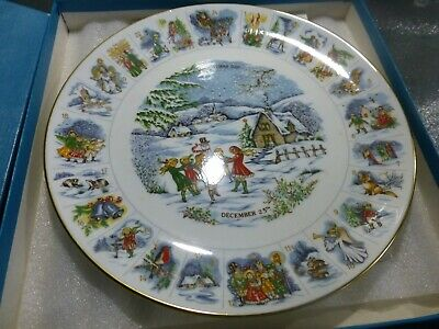 COALPORT 1981 Christmas Advent Plate (boxed) • 12£