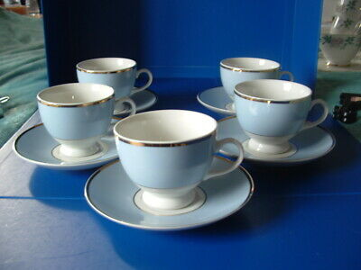 Doulton 5 X Cups & Saucers • 10£