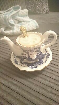 Real Old Willow Coffee Pot X Spoon • 76£