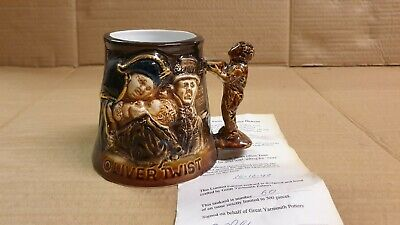 Oliver Twist Charles Dickens Ltd Ed Great Yarmouth Pottery Tankard Mug  • 8.95£