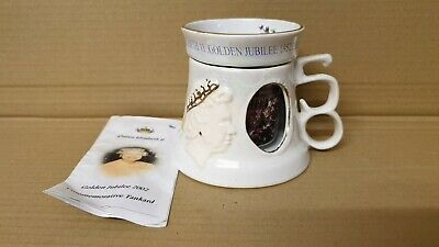 Great Yarmouth Pottery Queen Elizabeth Golden Jubilee Tankard With Beaker • 7.95£