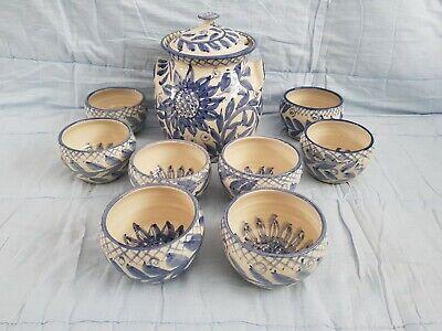 Crail Pottery Soup Tureen And 8 Bowls • 39.99£