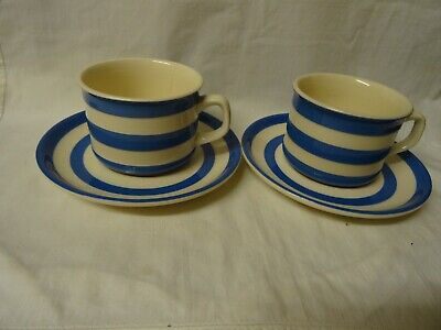 Two Vintage T.g. Green Cups And Saucers • 10£