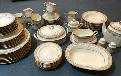 NORITAKE Bone China Dinner Service/tea Set 8 Place/56 Piece. Art Nouveau • 85£