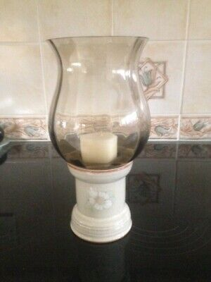 Denby Daybreak Candle Holder And Glass Shade • 12£