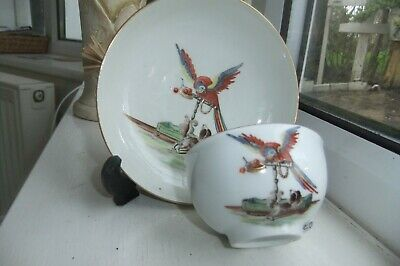 SUPERB EXTREMELY RARE FINE Meissen Tea Bowl And Saucer,C.1740.From Rare Service. • 670£