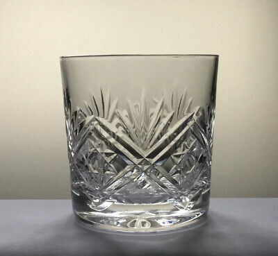 Thomas Webb Crystal Old Fashioned Whisky Glass / Tumbler 8cm High - Signed • 8.50£