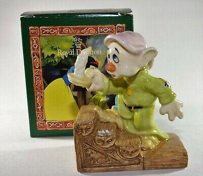 Royal Doulton Figurine Snow White And The Seven Dwarfs Dopey By Candlelight • 24.95£