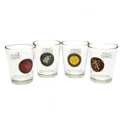 Game Of Thrones Gifts - 4pk Shot Glass Set • 12.99£