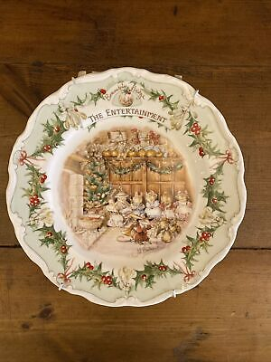 Royal Doulton Brambly Hedge Merry Midwinter The Entertainment Plate • 21£