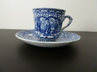William Adams 'Chinese Bird' Coffee Cup And Saucer • 9£