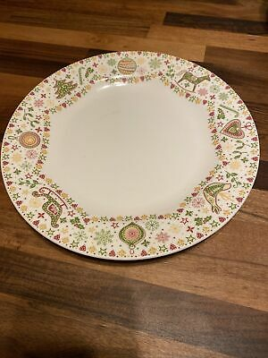 Queens Yuletide 10,1/4″ Dinner Plate Plain Middle. • 9.99£