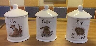Royal Worcester 'Wrendale' Cannisters • 25£