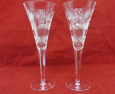 Waterford Millenium Series- Prosperity Pair Of Champagne Glasses Vintage 2000 • 37£
