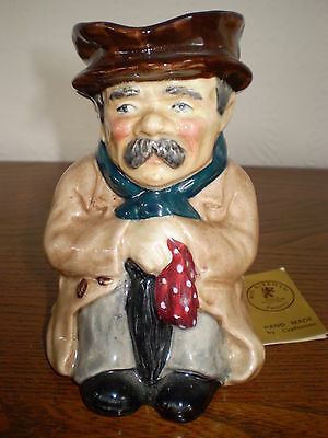 Roy Kirkham Toby Jug - Poorman - Porcelain/China - Made In England • 12£