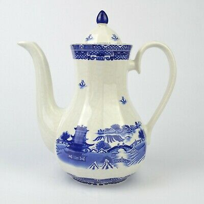 Wade For Ringtons Willow Pattern Blue & White Coffee Pot • 12.99£