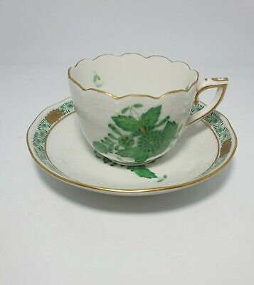 Herend (Hungary) Handpainted Coffee Cup & Saucer • 9.99£