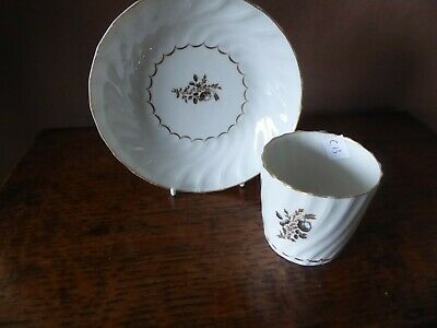 Antique Early 19th English Porcelain Century Coffee Can Cup And Saucer • 19£