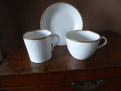 Antique Early 19th Century English Porcelain Cup And Saucer And Coffee Can Trio • 19£