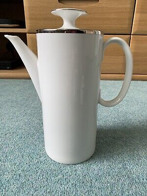 Thomas China Thin Platinum/Silver Band Coffee Pot • 4.99£