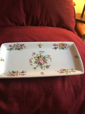 Vintage Marlow Minton  China  Fluted Edge Tray • 6.50£