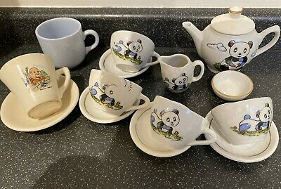 JOB LOT 1950's VINTAGE DOLLS CUP & SAUCER AND CERAMIC TOY TEASET & MUG • 4.99£