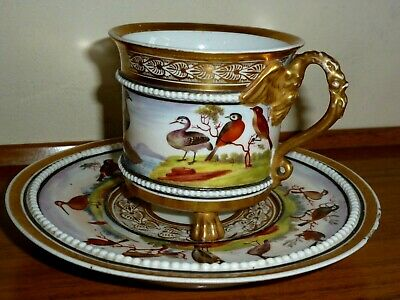 Antique 18th Century Continental Cup And Saucer • 280£
