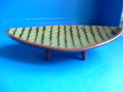 Vintage Pottery Footed Bowl / Dish • 10£