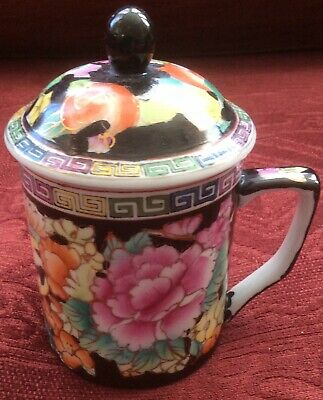 Chinese Lidded Mug / Pot • 11£