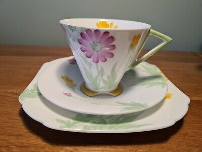 Shelley Eve Shape  Daisies  Pattern 11950 Tea Cup Trio - AF • 9.99£