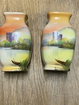 Pair Of Vintage Noritake  Japanese  Vases • 4£