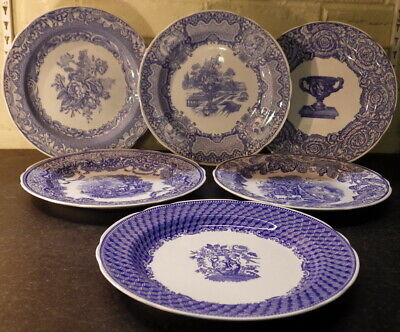 SPODE Set Of Six BLUE ROOM COLLECTION Blue & White PLATES (10 1/2 ) • 30£