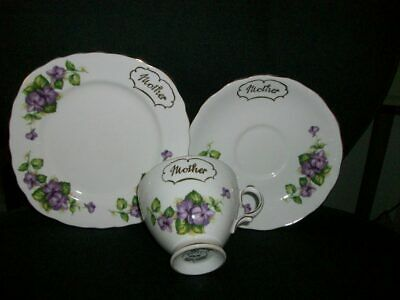 Royal Vale Bone China   Mother   Trio. • 4.99£