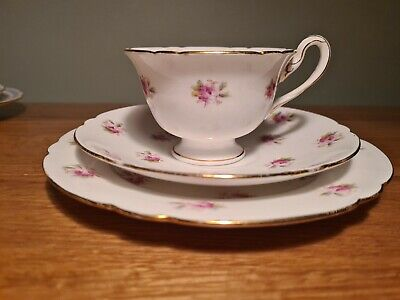 Wileman Shelley China Gainsborough Trio -  Sprigs Of Roses - Pattern 7447 C:1902 • 14.99£