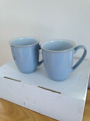 Denby Elements Blue/Green Mugs X 2 Used Ex Condition  • 8.99£