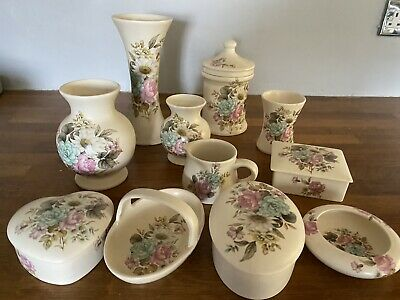 Decorative Collectable Purbeck Floral Pottery   11 Items. Storage Jar/Vases/Pots • 12£