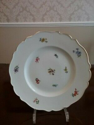 MEISSEN Germany China SCATTERED FLOWERS DINNER PLATE • 60£