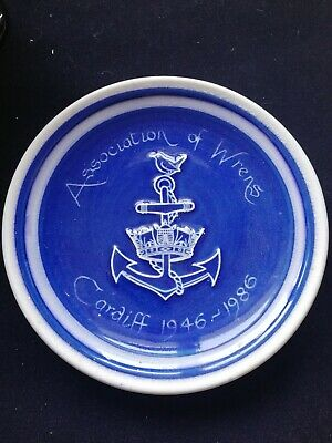 Commemorative Plate Association Of Wrens Cardiff Anchor Blue Kitsch Rumney... • 0.99£