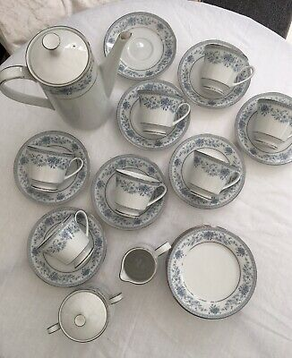 Noritake Blue Hill  Tea/ Coffee Full Set • 35£