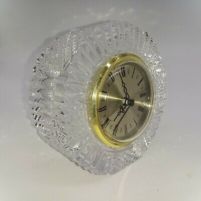 Tyrone Crystal Vintage Drumreagh Round Clock  10cm Wide • 8.50£