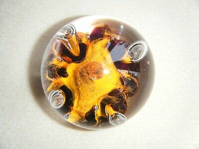 Caithness Scotland Paperweight Limited Edition - Orange • 8£