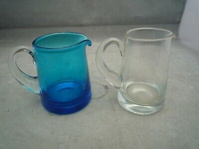 Whitefriers  Glass 2 Cream Jugs  2 3/4 Inch High  • 4.99£