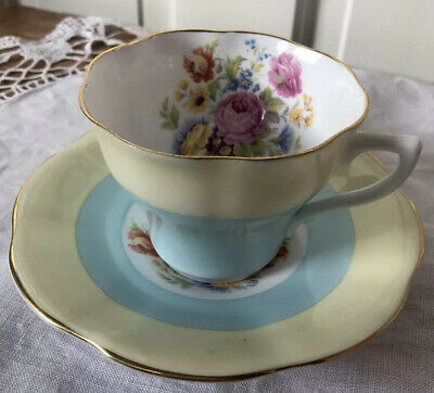 Vintage Roses Clare Fine Bone China Cup And Saucer • 6.95£