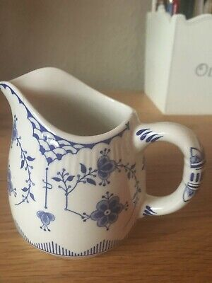 A BLUE & WHITE DENMARK JUG By Furnivals Ltd • 7£