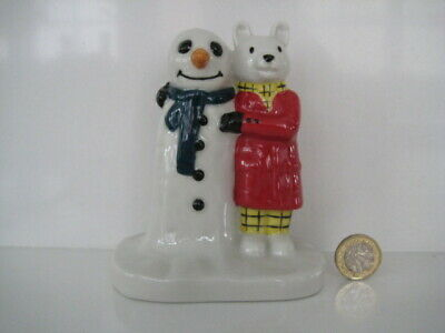 Vintage Wade Rupert And Snowman Figure Camtraks Limited Edition 2000 Figurine • 39.99£
