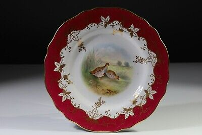 Spode Copeland Cabinet Plate Painted Partridge • 68.25£