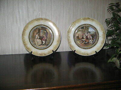 Two Prattware Plates - One With Rare Caption - One  The Queen God Bless Her  • 10£