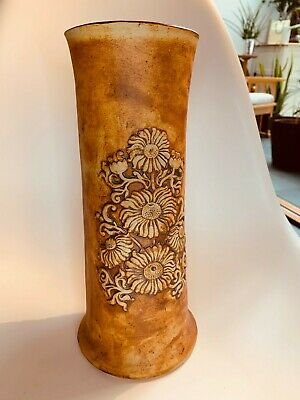 Quantock Pottery Sunflower Vase 29cm Tall By 13cm Wide • 19.99£